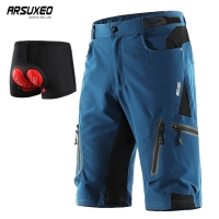 ARSUXEO Cycling Shorts Men MTB Bicycle Bike Short with Underwear downhill Water Resistant Loose-fit Quick dry 1202