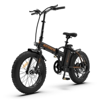 AOSTIRMOTOR A20 Electric Bike Folding 36V 13Ah Lithium Battery 500W Ebike 20 Inch 4.0 Fat Tire City Beach Cruiser Bicycle