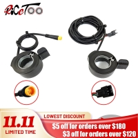 Electric Bicycle WUXING 130X Thumb Throttle 12V24V36V48V60V72V SM/Waterproof Plug Ebike Left/Right Hand Accelerator Accessories