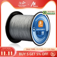 MEREDITH 4 Strands Braided PE Fishing Line 300M 500M 1000M 15-80LB Multifilament Smooth Fishing Line For Fishing Lure Bait