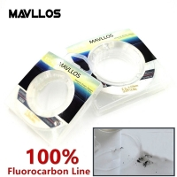 Mavllos 50m Ture 100% Fluorocarbon Fishing Line Sink Monofilament Fluorocarbon Line Carbon Fiber Leader Fishing Line Invisible