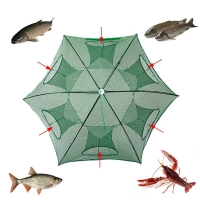 Fully Automatic Foldable Fishing Net  Hole Fishing Fish Trap Magnetic Net Release Crab Trap Outdoor Netting Fishing Tackle Tools