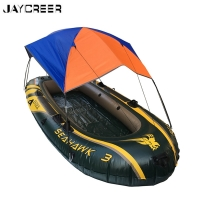 JayCreer Boat Sun Shade Shelter, 2-4 Persons Quality Lightweight Folding Inflatables Boat Awning Top Cover Fishing Tent