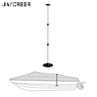 JayCreer Boat Cover Support Pole, Aluminum+Plastic Material , 3 Positions And Places Extension Adjustable