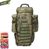 911 Military Combined Backpack 60L Large Capacity Multifunction Rifle Rucksacks Men Travel Trekking Tactical Assault Knapsack