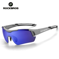 ROCKBROS Polarized Sports Cycling Sun Glasses Hiking Glasses MTB  Protect Bicycle Goggles Bike Eyewear Sunglasses 29g 5 Lens Men