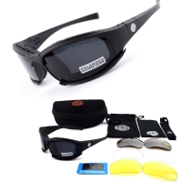 X7 / C5 Hunting Airsoft Tactical Goggles Military Army Shooting Glasses Polarized Hiking Sunglasses 4 Lens Cycling Eyewear