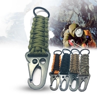 Outdoor Paracord Rope Keychain EDC Survival Kit Cord Lanyard Military Emergency Key Chain  For Hiking Camping 5 Colors Wholesale