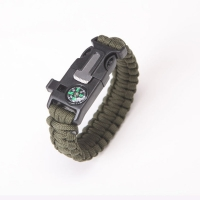 High-Jump Multi Functional Emergency Paracord Bracelet Survival Parachute Outdoor Tools Scraper Whistle Buckle Jewelry Men Women