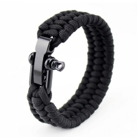 Stainless Steel Buckle Paracord Bracelet Emergency 550lbs Rescue Paracord Bracelet Outdoor Climbing Rope Parachute Cord 20cm23cm