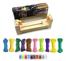 10 Parachute Cords and 10 SIDE Release Plastic Buckle Belt Machine paracord Solid Wood Knit Weave DIY Manual Hair Cut Set