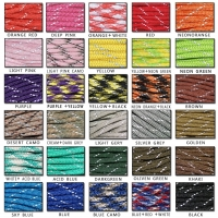 YOUGLE One piece 100ft 8 Strands Cores 550 lb Reflective Paracord Parachute Cord Lanyard Rope