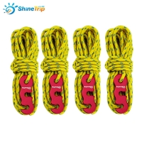 4x4m Reflective Paracord Outdoor Camping Tent Wind Rope 3mm Sun Shelter Awning with Aluminum Alloy 3 Holes Buckle Adjuster