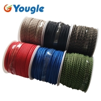 YOUGLE 2mm 3 Strands 164FT 50m Paracord Parachute Cord Outdoor Hiking Camping Tent Rope Fishing Line Emergency Lanyard