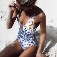 2020! Sexy One Piece Swimsuit For Women, New for Floral Printed Monokini Swimsuit, Bathing Suit