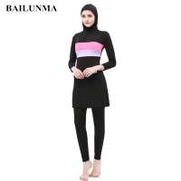 Muslim swimwear with chest pad musulman swim wear women Hijab Islamic Swimsuit Sport modest swimwear kostium kapielowy