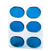 6pcs/set Snare Drum Mute Pad Damper Pad Small Snare Silencer Transparent Blue Brown Optional Percussion Instrument Accessories