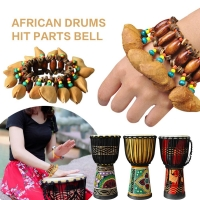 African Drum Handbell Percussion Bracelet Hand Chain Sound  Bracelet Gift Musical Instrument Accessorie child toys hand bell