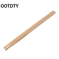 OOTDTY 2pcs Wood Drum Sticks with Smooth Surface Drumsticks for Beginner Students