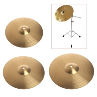 1 Pc Beginner Copper Alloy Crash Cymbal Drum Durable Brass Percussion Instrument 8 10 12 Musical Instrument Accessories