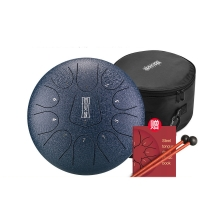 Hluru Drum Steel Tongue 8 Inch Tang Drum Ethereal 11 notes Tone F Percussion Hand pan Instrument Musical Instruments