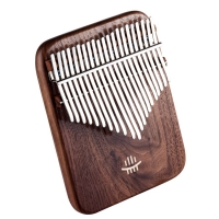 Hluru Kalimba 17/21 Key Black Walnut Curly Figure Keyboard Thumb Piano Chamfer Calimba Musical Instruments Kalimbas