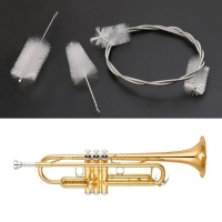 3pcs Trumpet Maintenance Cleaning Care Kit Valve Mouthpiece Flexible Brush Clean