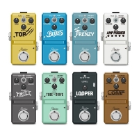 Rowin Guitar Pedals Booster Overdrive Fuzz Tremolo Distortion Effect Pedals for Electric Guitar and Bass