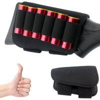 16 x 10 CM hunting Cartridge Belt Airsoft Tactical 6 Shots 12 20 Gauge Shot gun Shell Bandolier Ammo Holder Military Holster