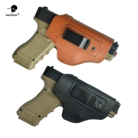 Hand Gun Concealed Leather Holster Universal Carry Pistol Case Metal Clip For Glock 17 19 P226 P229 Sig Sauer Ruger Beretta M92