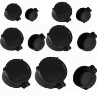 Rifle Scope Protection Covers Quick Flip Up Open Lens Cap Eye Protect Scope Objective Lense Lid Airsoft Hunting Attachments
