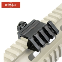 WIPSON 45 Degree Angle Tactical Scope Mount Aluminum Offset 4 Slot Side Rail RTS Sight Rail Airsoft 45mm Picatinny Weaver Laser