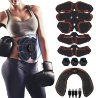 EMS Abdominal Muscle Stimulator Hip Trainer Toner USB Abs Fitness Training Gear Machine Home Gym Weight Loss Body Slimming