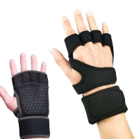 Gym Weightlifting Gloves Fitness Half Finger Gloves Crossfit  Workout Non-Slip Cycling Yoga Strength  Training Wrist Support