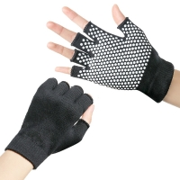 Yoga Gloves Unisex Non-slip Fitness Gloves For Gym Yoga Pilates Balance Warm Workout Fitness Half Finger Hand Protector Glove