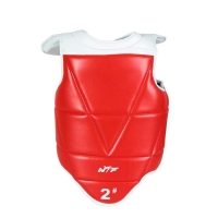 WTF Taekwondo Chest Protector Solid Reversible Chest Guard Body Protector Kids Leather Belt Karate Equipment fot Adults Children
