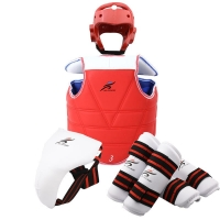 Karate Chest Guard Jockstrap Taekwondo Helmet Head Body Protector WTF Adult Kids Children Forearm Shin Pad Training Equipment