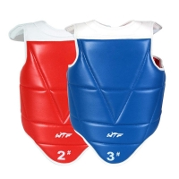 Chest Guard Taekwondo WTF MMA Body Chest Protector Unisex Adults Children Reversible PU Leather Waist Belt Karate Equipment
