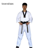Quality Dobok child adult karate uniform suit WTF Taekwondo kick boxing MMA Martial art training clothes dobok 55%cotton kimono
