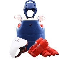 ITF Helmet Taekwondo Dobok Sparring Gear Leg Arm Chest Protection Karate Team Professional Martial Arts Boxing Uniform Equipment