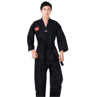 4colors Men Women Taekwondo Training Uniform Martial Arts Suit Professinal Children Adult Taekwondo dobok Clothing 110-190cm