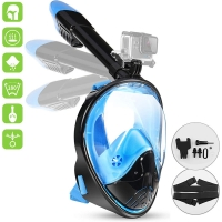 Adult Novice Scuba Diving Mask Full Face Anti Fog Underwater Snorkel Mask Set Swimming Mask for Gopro Camera(Myopia Lens Option)