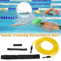 4meter Adjustable Swim Training Resistance Elastic Belt Swimming Exerciser Safety Rope Latex Tubes Various Specifications Styles