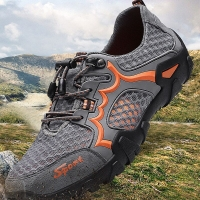 High Quality 2010 Men Hiking Shoes Summer Mesh Breathable Men Sneakers Climbing Trekking Shoes Men Sport Shoes Outdoor Water Sho